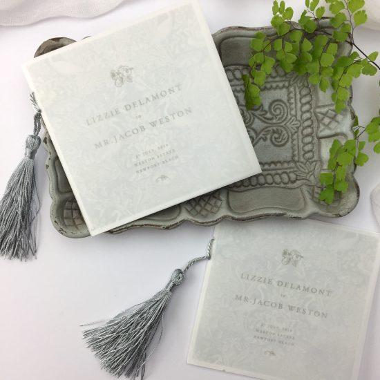 wedding program day of stationery