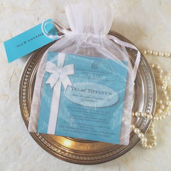 Tiffanys theme invitation