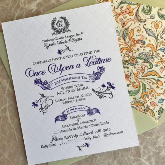 fairytale theme invitation