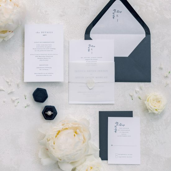 wedding suite flat lay