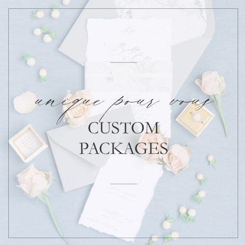 custom wedding invitation packages