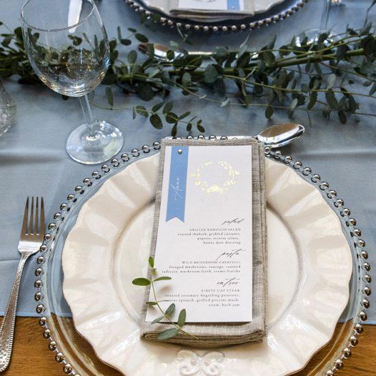 fairytale wedding menu