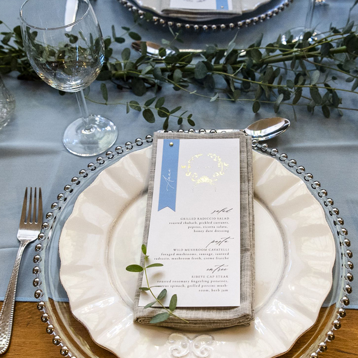 fairytale wedding menu