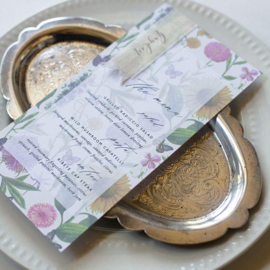 garden wedding menu