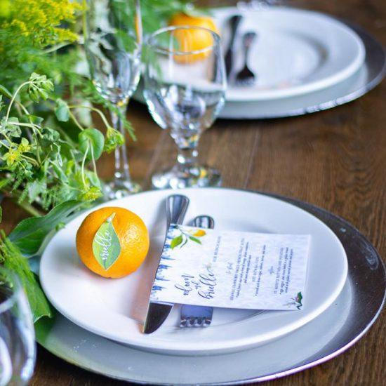 citrus wedding menu