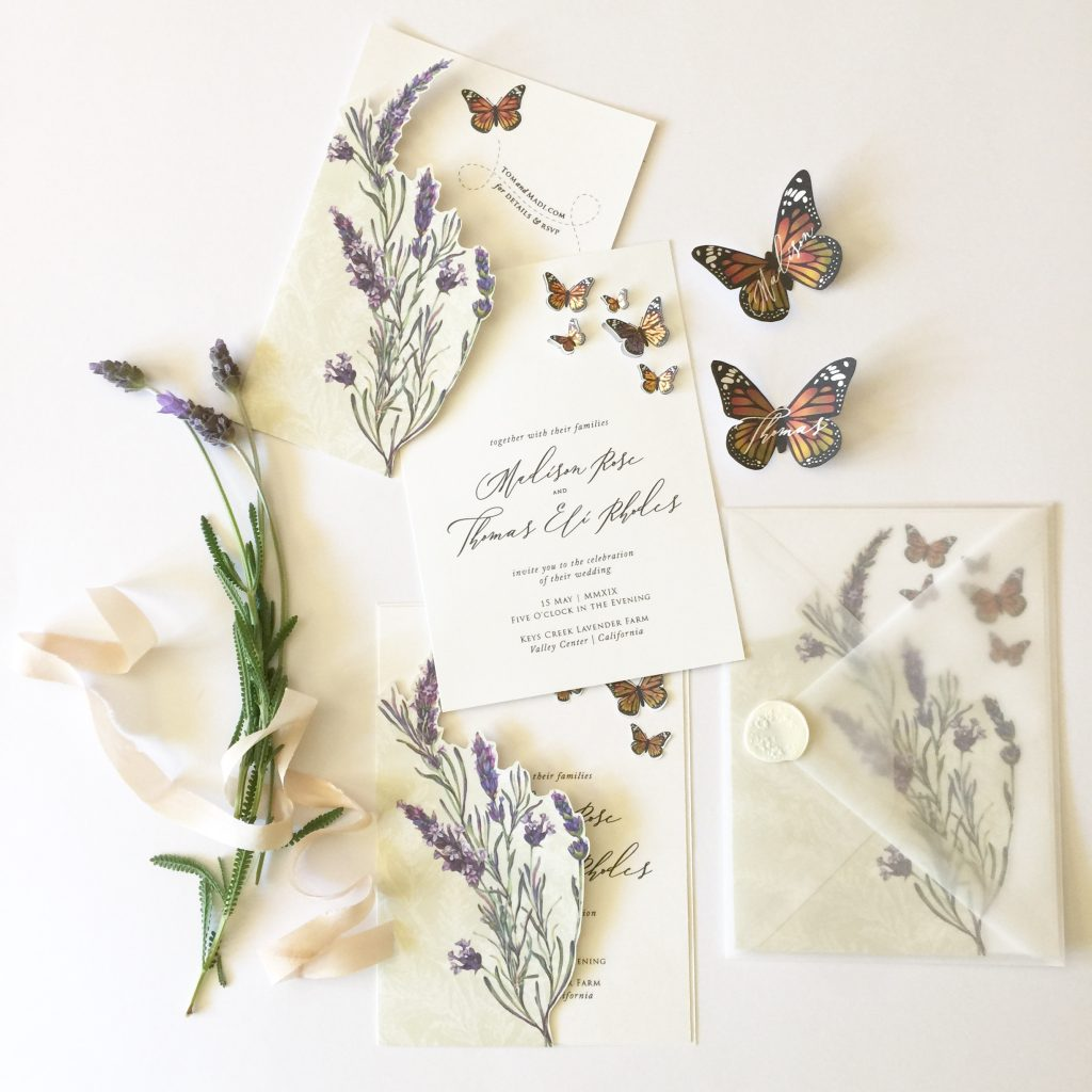 monarch butterfly invitation suite