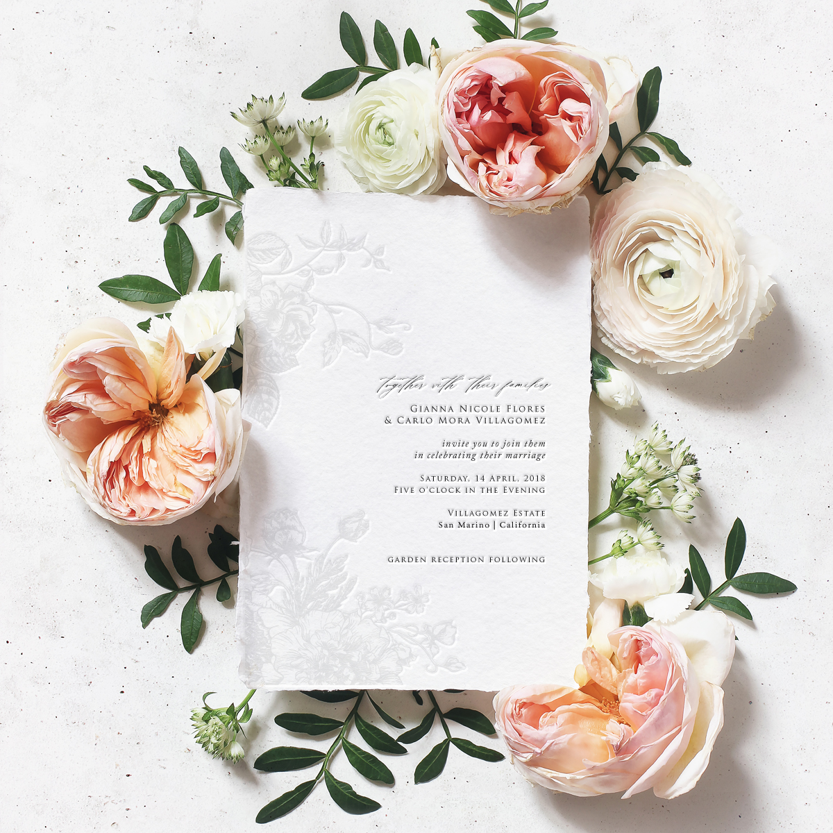 Foil and Letterpress Floral Dream