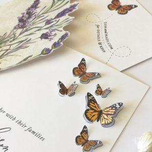 foil and die cut butterflies