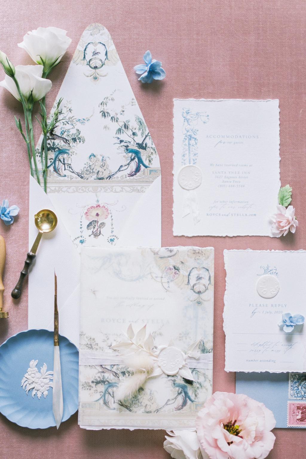 fine art wedding invitation suite
